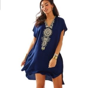 Lilly  Pulitzer Chai V neck caftan dress  size XXS